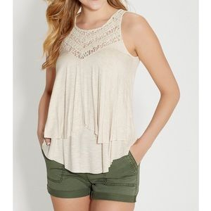 Maurices Layered Tank with Lace Yoke